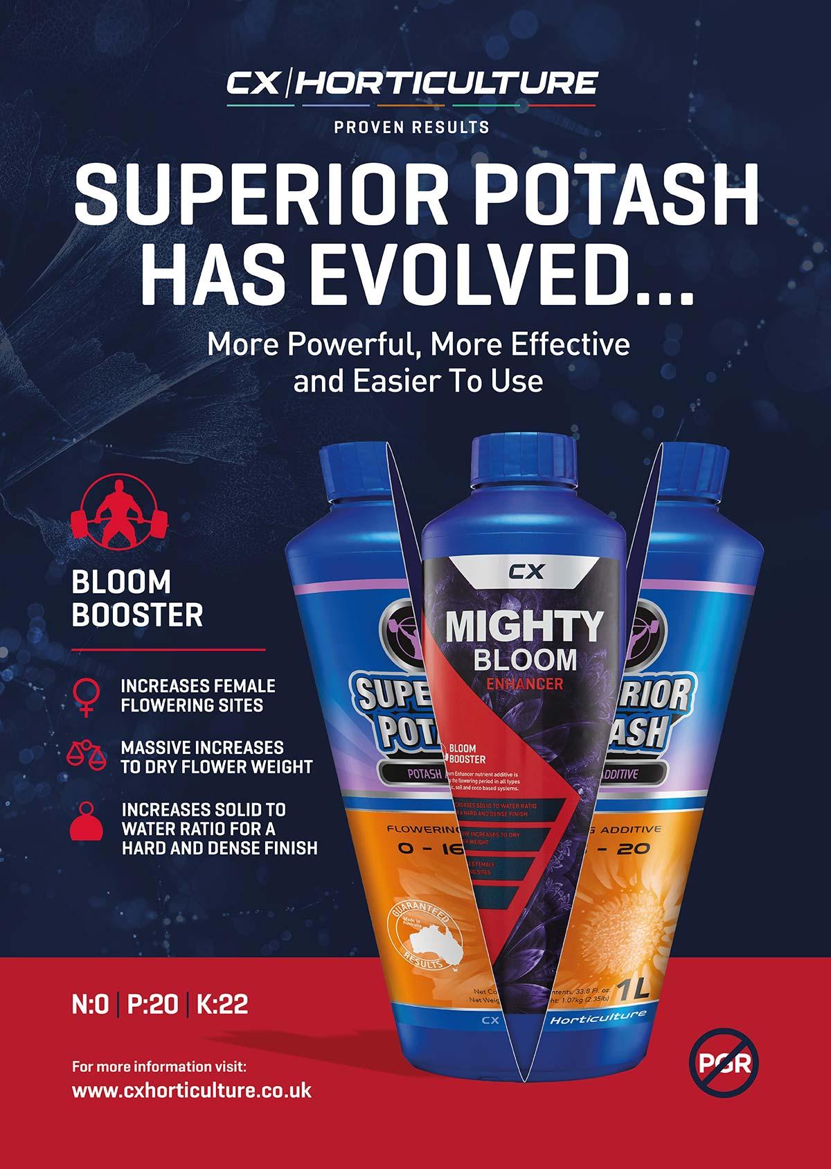 CX Superior Potash becomes Mighty Bloom Enhancer
