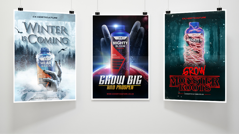 CX Hydroponics TV Posters